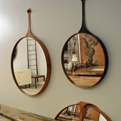 Leather Mirrors by Palo Samko