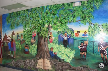 Elementary School Mural - Anna Donahue Design