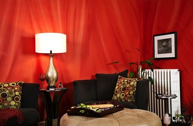 Faux painted silk fabric walls - Anna Donahue Design
