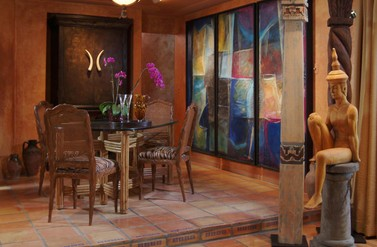 Moroccan inspired dining room - Clay Stephens Lifestyles