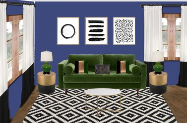 Bold Eclectic Living Room - Dayziner LLC