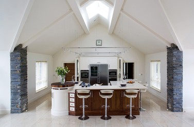 Classical Walnut and White - Designer Kitchen