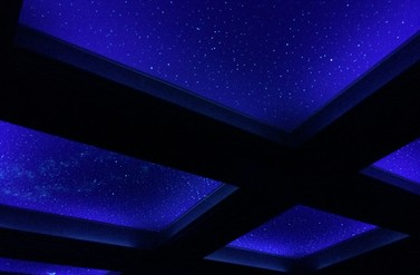 Night sky murals faux finishers muralists salt lake city ut night sky mural through beams mozeypictures Images