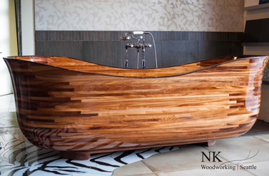 The Lotus Bathtub - NK Woodworking & Design